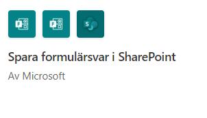 Power Automate: Spara formulärsvar i SharePoint