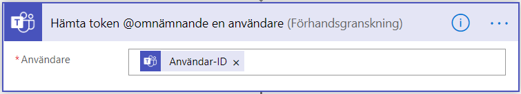 Utlösare: Hämta token @omnämnande en användare