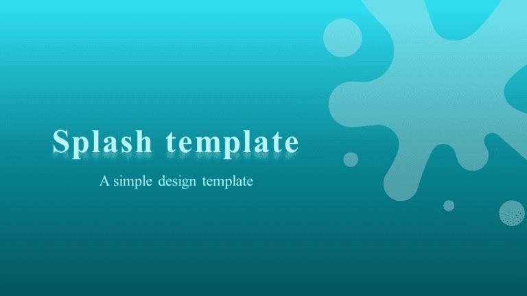 PowerPoint Template - Splash