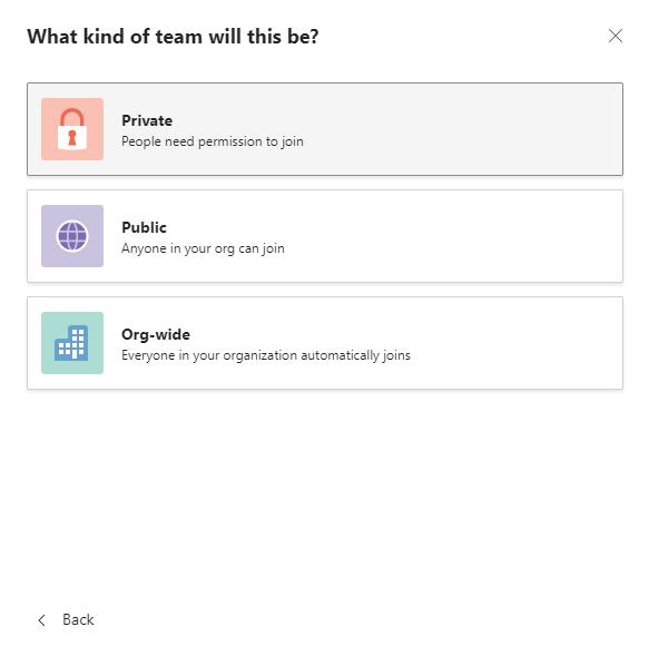 Create a team 3
